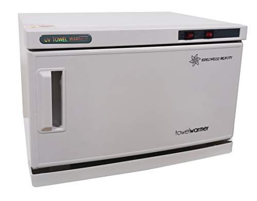 EDELWEISS BEAUTY Calentadores de Toallas 2 EN 1 Esterilizador de Toallas UV Gabinete Profesional (16L / 200W)