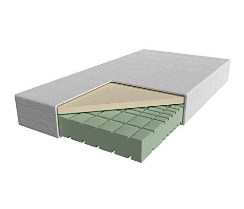 AM Qualitätsmatratzen - Premium-Latex-Matratze 90x200cm - H2 - Hochwertige Matratze mit 4cm Latex-Auflage - 24cm Höhe - Made in Germany