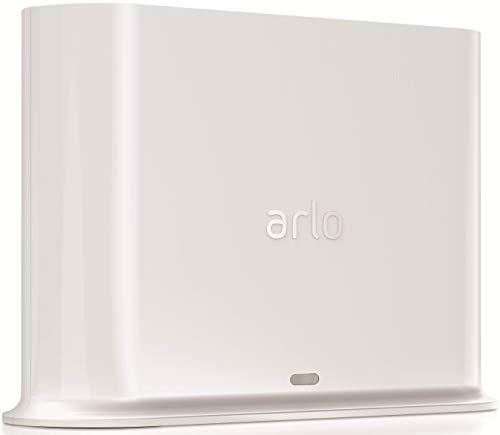 Arlo zertifiertes Zubehör | Basisstation (geeignet für Arlo HD, Pro und Pro 2 kabellose Überwachungskamera, Intelligente 90 Dezibel Sirene und mögliche lokale Speicherung via USB Port) VMB4500, weiß