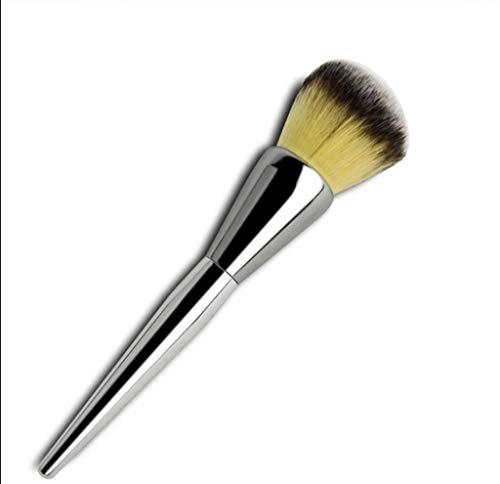 Pinceaux Maquillage 1pc grande brosse en poudre en vrac, argent en laine de haute qualité, pinceau de maquillage de poignée