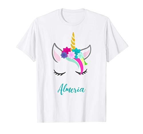 T-Shirt Personalizada Nombre Almeria Unicornio Camiseta