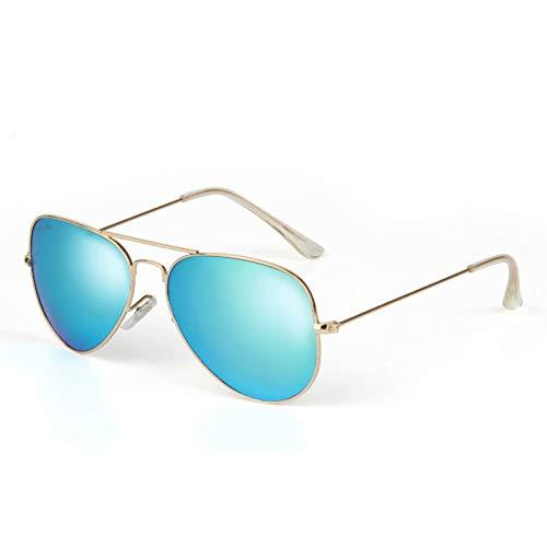 Liansan Gafas de sol 3025 para hombres y mujeres polarizadas con protección UV para señoras y hombres y mujeres, lentes de sol ligeros con espejo con funda