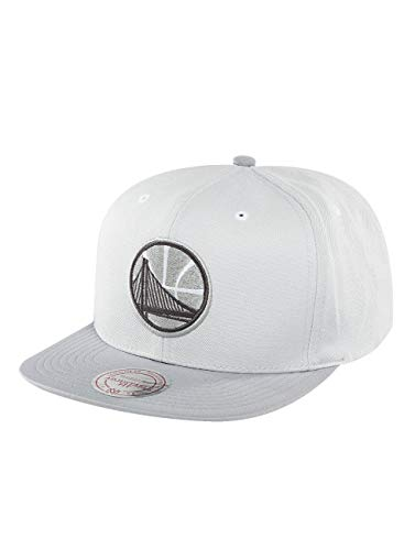 Mitchell & Ness Homme Casquettes/Snapback Grey 2 Tone Plus Series Golden State Warriors Gris Réglable