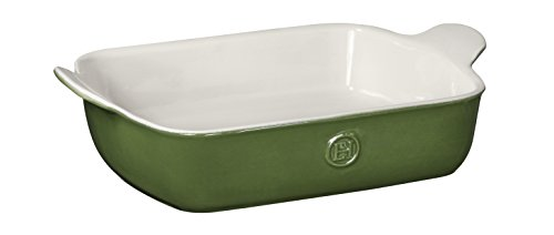 Emile Henry Made In France HR Modern Classics Small Rectangular Baker, 11 x 8', Green