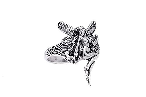 WINDALF Bohemia Elben-Ring LUANA 24 mm Jugendstil Vintage Wunschring Antik Gipsy-Freundschaftsring 925 Sterlingsilber (Sterlingsilber, 52)