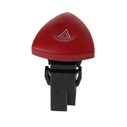 Yushu Interruptor de luz de advertencia de peligro de emergencia para Renault Laguna Master Trafic II Vauxhall LN interruptor de linterna de emergencia de piezas de repuesto profesionales interiores