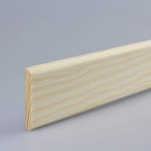 Tapetenleiste Abdeckleiste Wandschutzleiste Holz-Bordüre Bastelleiste Flachprofil aus Kiefer-Massivholz 900 x 6 x 40 mm