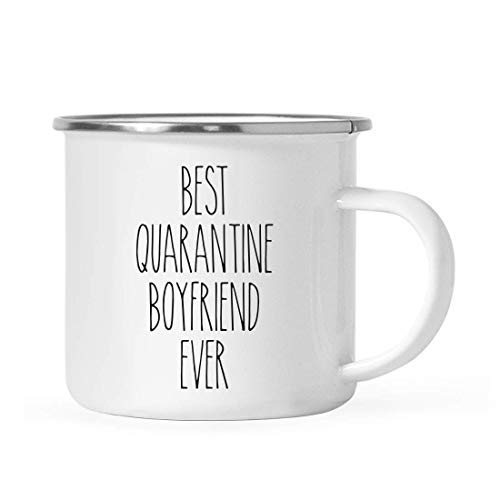 Andaz Press Funny Quarantine 11oz. Stainless Steel Campfire Coffee Mug Gift, Best Quarantine Boyfriend Ever, 1-Pack, Birthday Gift Ideas, Self Isolation Social Distancing Pandemic Virus