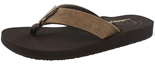 Cobian Men's Floater Flip Flop, Mocha, 9 M US