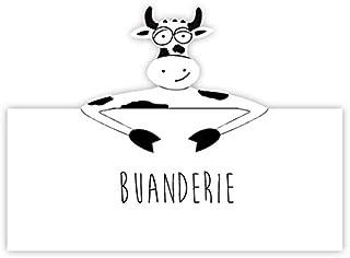 Plaque de porte humoristique vache pour chambre, buanderie, toilettes, salle de bains, cuisine, bureau, privé ou à personn...