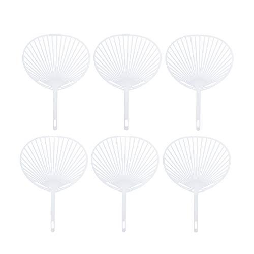 Healifty 20 Stück Japan Fan Uchiwa Kit FAI von Te bis Mano Ventilator, Rahmen für Handwerk von Te (weiß)