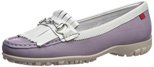 MARC JOSEPH NEW YORK Women's Leather Made in Brazil Lexington Golf Shoe, Lavender Grainy, 10 M US