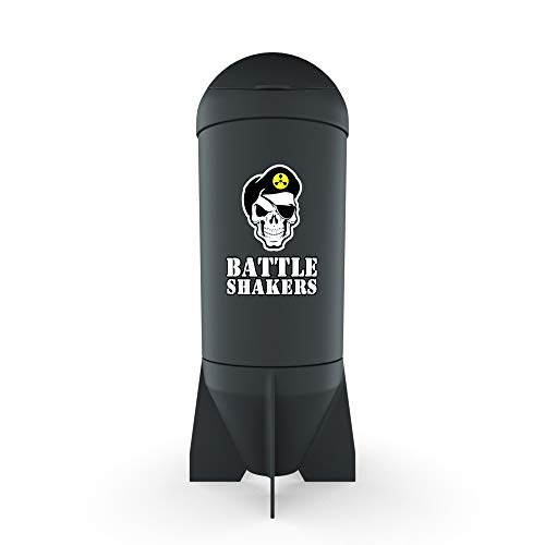 Battle Shakers Missile Shaker Cup | 20 Oz Leak-Proof Shaker Bottle | Protein Cup with Storage Compartment | Dishwasher Safe & BPA Free Sports Bottle