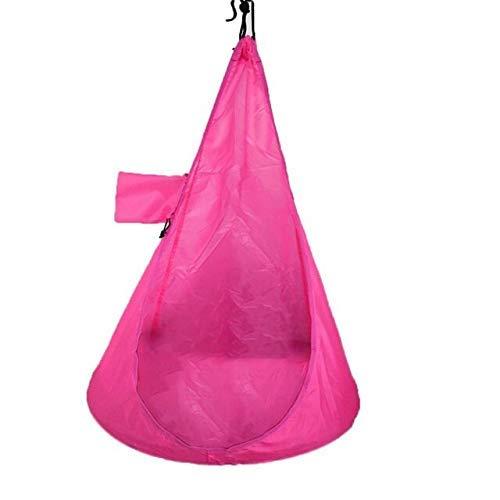 Camping 80kg MAX Cargar 60 x 115 cm Niños Silla de Hamaca cómoda Asiento Colgante Outdoor Garden Swing MAX Cargar 80kg (Color: Naranja) leilims (Color : Pink)