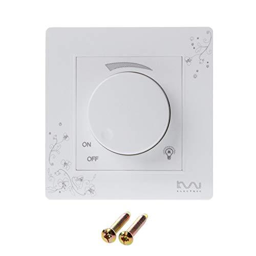 Fivekim - Interruptor escalador de pared de marfil blanco breve Art Weave Light Switch AC 110 ~ 250 V regulador interruptor blanco marfil