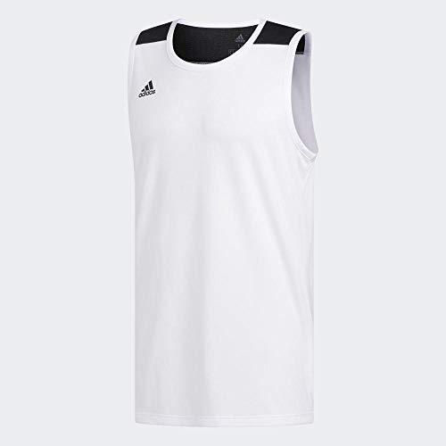 adidas C365 JRSY Camiseta de Manga Corta, Hombre, White/Black, XL
