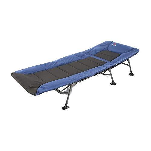 LKNJLL Cama de auto-conducción, Oficina cama individual, aluminio Catre, aleación reclinable plegable, Descanso for comer, siesta, playa Acompañando portátil Tumbona, el Hospital Acompañando cama, mul