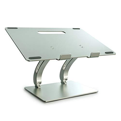 "YHMT Laptop Computer Stand, Adjustable Tablet Holder Desk,Aluminum Ventilated Computer Stand for 10-17"" Laptops(Silver)"