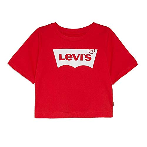 Levi's Lvg Light Bright Cropped Top 4e0220-r6w-lv T-shirt, super rood, 14 A