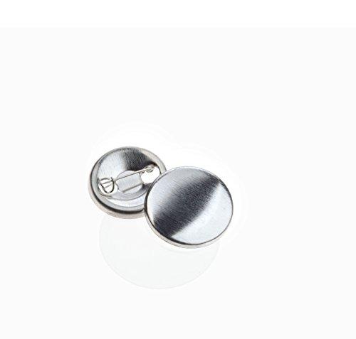 Buttonrohlinge 25mm (100 Stück) für Badgematic Buttonmaschine mit Sicherheitsnadel