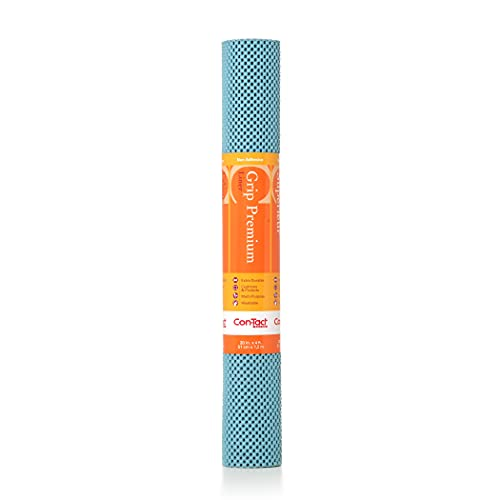 Con-Tact Brand Grip Premium Thick Non-Adhesive Shelf and Drawer Liner 20 in x 4 ft Dusk Blue