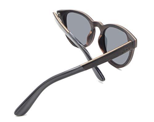 allife Fjorde - Gafas de sol para hombre y mujer, madera auténtica, polarizadas, protección UV400