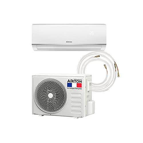 Airton Pack, pompa di calore/condizionatore reversibile R32-5270/5500 W, 18000BTU + collegamento 4M Ready Clim (60 m2 - A++) – Gas pre-caricato.
