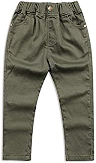 WHPSTZ Korean Version of Children's Clothing Autumn New Boy Trousers in The Children's Cotton Slim Children's Pants Wild Children's Pants Children's Trousers (Color : Green, Size : 120cm)
