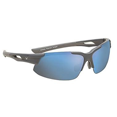 Callaway  Sungear Peregrine Golf Sunglasses - Matte Gray Plastic Frame, Brown Lens w/Blue Mirror