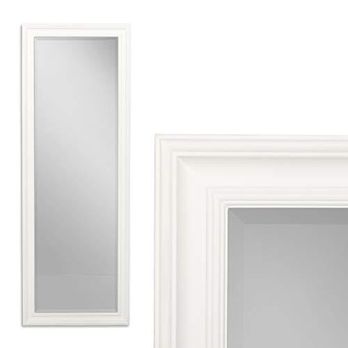LEBENSwohnART Spiegel Garvin Weiss Matt ca. 180x70cm Modern Schlicht Wandspiegel Facette