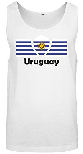 Copa del Mundo 2018 Camiseta sin Mangas Hombre Bandera de Uruguay