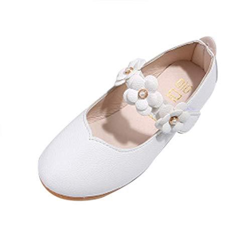 ZODOF Zapatos para niños Zapatos de niña de Flores de Moda Sólidos Zapatos Casuales a Juego con Todos Zapatos Zapatillas Respirable Mocasines Deportes Sneaker