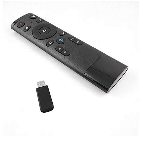 DERCLIVE Multifunción 2.4G Fly Mouse Mini Control de Teclado Inalámbrico para Nvidia Shield Android TV Box Smart TV PC