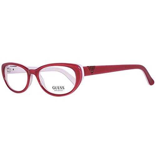 GUEX5 GU2296 52O92 Brille GU2296 52O92 Rund Brillengestelle 52, Rot