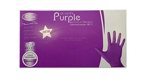 Gunati Nitrile Viola Ro.Ial.NON TALCATI Purple 100pz Taglia L