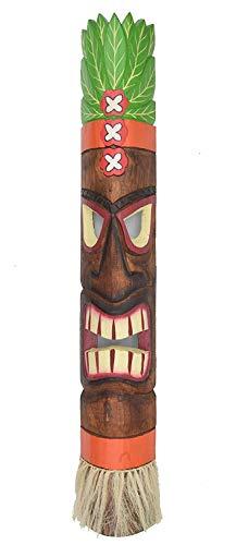 Interlifestyle Tiki Máscara de Madera con Tiki Hawaii