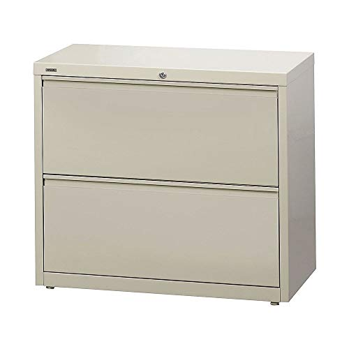 Staples 870391 Commercial 2-Drawer Lateral File Cabinets 36-Inch Wide Putty