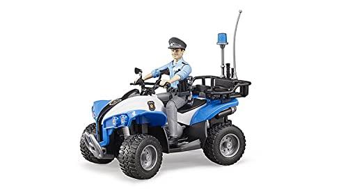 Bruder 63010 - Polizei Quad mit Polizist und Ausstattung