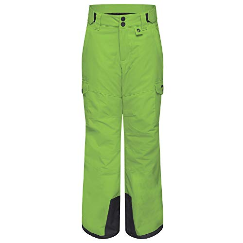 Arctix Kids Snow Sports Cargo Snow Pants with Articulated Knees, Lime Green, Small Regular
