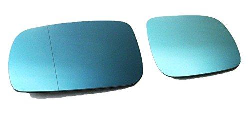 Spiegelgläser Links+Rechts Asphärisch Konvex Blau Set