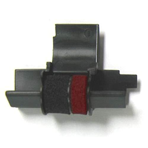 (4 Pack) Sharp EL-1750V Sharp EL-1801V Calculator Ink Roller, Black and Red, Compatible, IR-40T