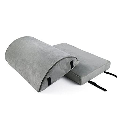 Reposapiés Reposapiés de doble capa semicircular tela del pie de la oficina de la oficina de la oficina del hogar del almohadilla de masaje de la almohadilla de masaje de la medera protección del cora