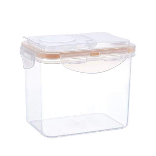 Ecurson Airtight Food Storage Containers Cereal Dry Food Storage Container Transparent Plastic Storage Box Leak proof BEST Airtight Kitchen Pantry Bulk Food (S)