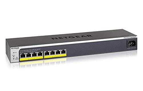 Netgear GS408EPP 8-Port Gigabit Ethernet LAN PoE Switch Smart Managed Plus (mit 8x PoE+ 124W, Easy-Mount-System für bedarfsgerechte Anbringung oder Rack-Montage, mit ProSAFE Lifetime-Garantie)