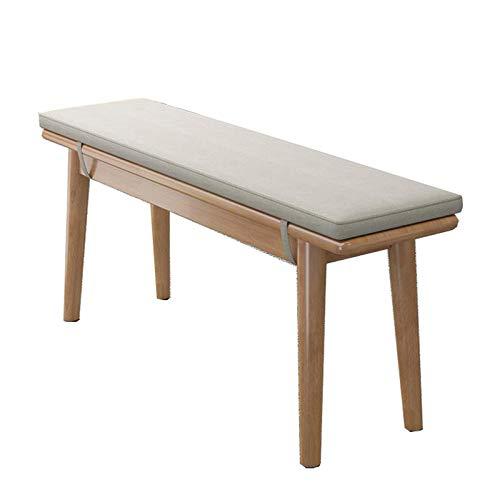 Cuscino per sedia a dondolo, rettangolare, morbido, per sedia a dondolo, per casa, da pranzo, 1/1,2/1,4 metri di lunghezza, spessore 2 cm, grigio/blu-grigio 1,2 m
