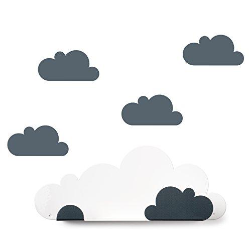 Tresxics Estantería Nubes, Metal, Gris, 37x24x7 cm