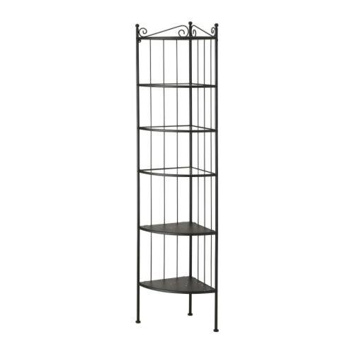 IKEA RONNSKAR - Hoek plank unit, zwart