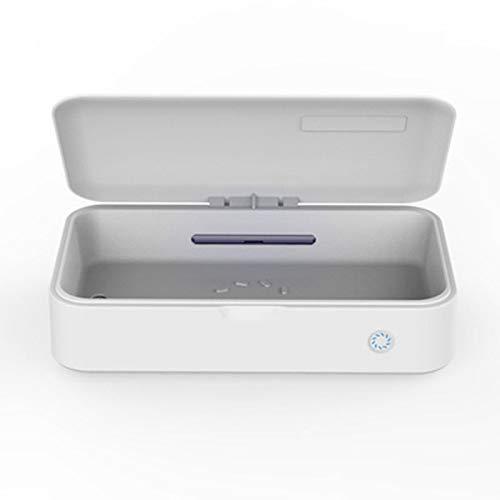 UV mobiele telefoon ontsmettingsmiddel, draagbare smartphone ontsmettingsmiddel, multifunctionele desinfector UV-reiniger doos voor alle mobiele tandenborstel sieraden fopspeen (let op de grootte)