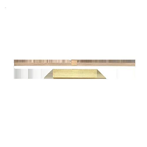 LIUYU 40/60 / 80cm Arte Moderno de la decoración LED Espejo de Maquillaje Espejo Lámpara Aseo WC iluminación lámpara de Pared de la lámpara de baño (Color Temperature : Warm, Size : Oro)
