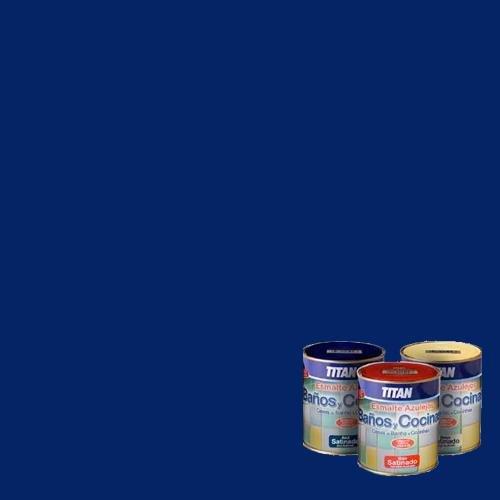 Titan M112276 - Esmalte azulejos baño-cocina azul 750 ml